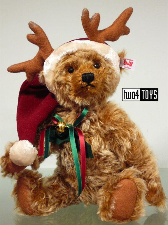 steiff 021732 christmas reindeer teddy bear caramel tipped 2016