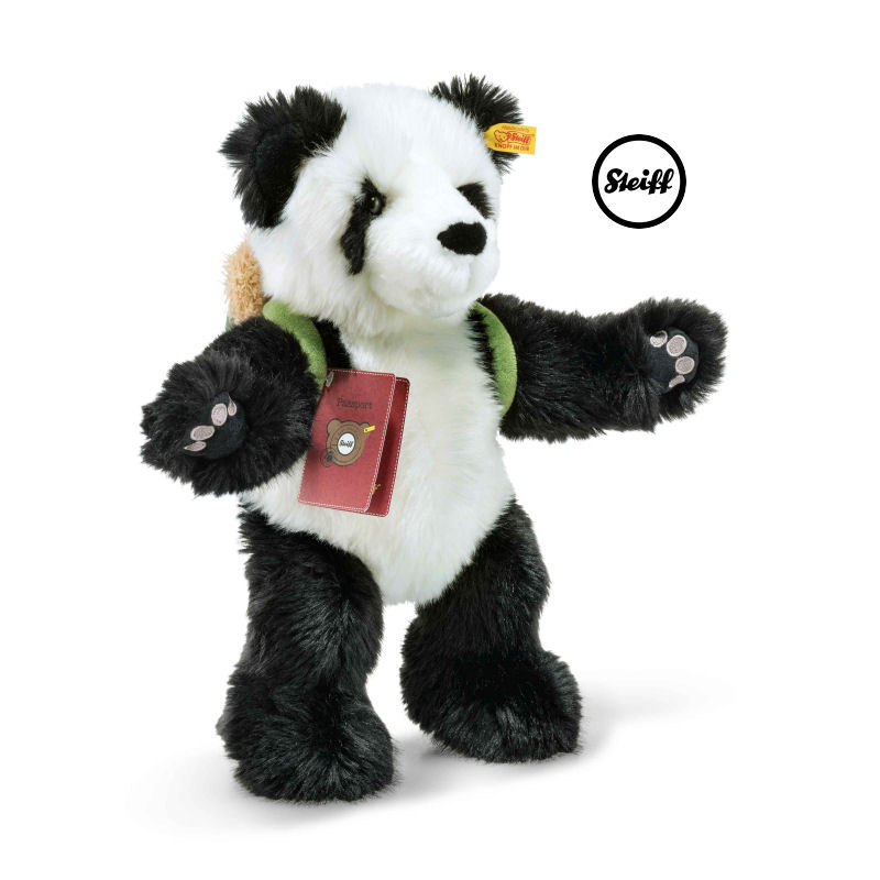 steiff 022173 lin the globetrotting panda beer 2017 | two4toys