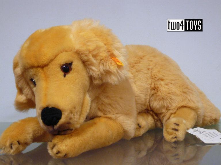 Steiff 079795 Lumpi Golden Retriever Dog Soft Plush