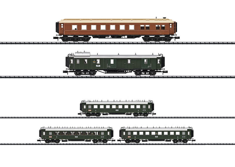 Minitrix 15966 │ 15967 DRG BAVARIAN EXPRESS TRAIN SET IN 1925