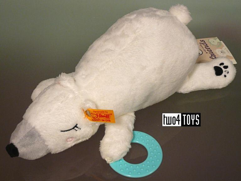 Steiff 240362 Soft Cuddly Friends Iggy oso polar kapuzendecke peluche blanco//multicolor Ones