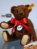 Steiff 000621 CLASSIC 1909 TEDDY BEAR CHESTNUT BROWN MOHAIR 2008