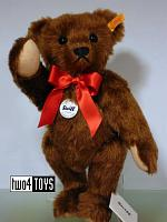 Steiff 000638 CHESTNUT BROWN MOHAIR CLASSIC 1909 TEDDY BEAR