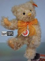 Steiff 001796 CLASSIC TEDDY BEAR WITH YELLOW BOW