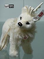2019 Steiff 006234 WINTER REINDEER ORNAMENT WHITE ALPACA