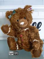 2018 Fall Steiff 006593 GINGER BREAD TEDDY BEAR MOHAIR