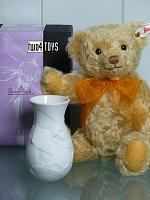 Steiff 006753 SUNFLOWER TEDDY BEAR WITH ROSENTHAL VASE 2019