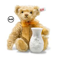 2019 Steiff 006753 SUNFLOWER TEDDY BEAR WITH ROSENTHAL VASE