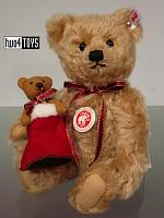 Steiff 021343 LENARD TEDDY BEAR WITH CHRISTMAS BOOT
