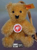 Steiff 027864 MINIATURE TEDDY GOLD MOHAIR KEY RING 2003