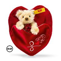 Steiff 028922 MINI TEDDY BEAR LOVELY WITH HEART 2017