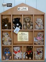 Steiff 029158 DECADE DISPLAY SET WITH 10 MINI TEDDIES 2002