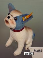 2016 Fall Steiff 031441 BULLY BULLDOG WHITE BLUE PLUSH