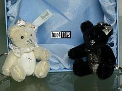 2018 Steiff 034114 PENDANT TEDDY BEAR WEDDING SET