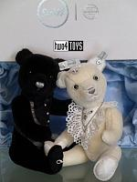 2018 Steiff 034220_034251 BRIDEGROOM & BRIDE TEDDY BEAR SET