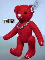 Steiff 035845 SELECTION FELT TEDDY BEAR RED