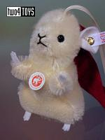 Steiff 035869 CHRISTMAS MOUSE ORNAMENT WHITE MOHAIR 2011