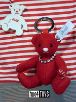 Steiff 036132 SELECTION KEYRING FELT TEDDY BEAR RED