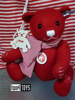 Steiff 036651 SELECTION FELT TEDDY BEAR RED