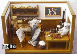 Steiff 038907 TEDDY BEAR WORK SHOP LIMITED EDITION 2002
