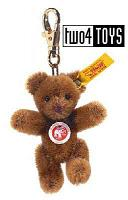 Steiff 039003 MINI TEDDY RUSSET MOHAIR KEY RING
