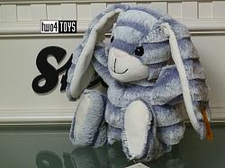 2018 Fall Steiff 080296 HOPPS RABBIT GRAY BLUE SOFT PLUSH