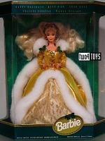 Barbie 12155 BLOND HAPPY HOLIDAYS NRFB 1994