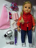 2017 Gotz 1459073 HANNAH LOVES HAIRSTYLING PLAY DOLL