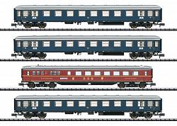 2020 Minitrix 15132 DB MERKUR EXPRESS TRAIN PASSENGER CAR SET