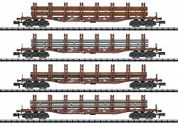 2020 Minitrix 15484 DB STEEL TRANSPORT FREIGHT CAR SET