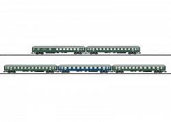 Minitrix 15548 DB  EXPRESS TRAIN W. 5 PASSENGER CARS SET
