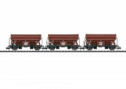 2017 Minitrix 15804 DB SIDE DUMP CAR FREIGHT CAR SET