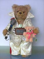 Hermann 19165-8 Elvis The King Teddy bear, the Wild Sixties