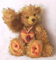 Hermann 20641-3 Fancy 2 Teddy bear Tipped Mohair