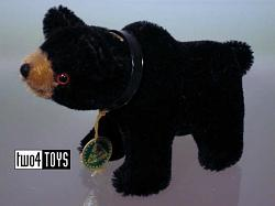 Hermann 22055-6 MINIATURE STANDING BLACK BEAR 2005 L.E. of 500