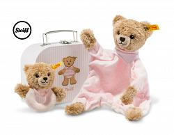 2017 Steiff 240997 SLEEP WELL BEAR COMFORTER/GRIP TOY GIFT SET