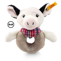 2017 Steiff 241048 HAPPY FARM COWALOO COW GRIP TOY W. RATTLE