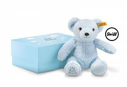 2017 Steiff 241369 MY FIRST STEIFF TEDDY BEAR BLUE IN GIFT BOX