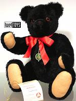 1996 Hermann 25945-7 IMPRESSION ALL BLACK TEDDY BEAR RARE!