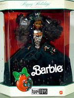 Barbie 2696 AFRO AMERICAN HAPPY HOLIDAYS NRFB 1991