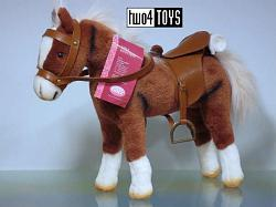 2019 Gotz 3401099 BROWN DOLL JUMPING HORSE w SADDLE & BRIDLE