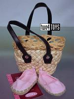 Gotz 3401563 STRAW BAG WITH ESPADRILLES