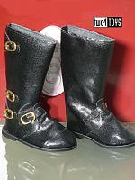 2018 Gotz 3401590 BLACK BELLSTAFF BOOTS WITH BUCKLES SIZE M/XL