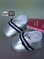 Gotz 3401886 SILVER GYM SHOES Dolls Boutique