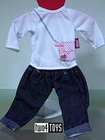 Gotz 3402049 JEANS AND SHIRT OUTFIT