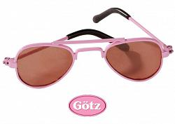 2018 Gotz 3402085 PINK AVIATOR METAL SUN GLASSES SIZE M/XL