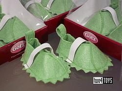 Gotz 3402307 GREEN FELT DOLL SHOES