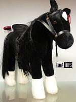 2019 Gotz 3402783 BLACK PONY HORSE TO BRUSH AND STYLE
