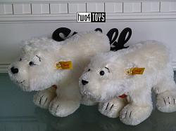 Steiff 354267 / 354274 GRETA AND LARS POLAR BEARS 2003