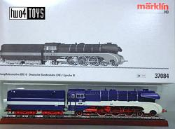 Marklin 37084 DB CLASS 10 001 STEAM LOCOMOTIVE BLUE GREY